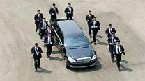 В Южной Корее машину Ким Чен Ына сопровождали 12 охранников