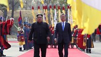 Welcoming Kim Jong-un with pomp and ritual