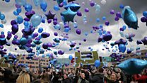 Balloons released to remember Alfie Evans
