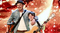 BGT golden buzzer for father and son