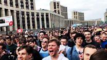"""""""Лучше Роскомнадзор заблокировать"""": кто и зачем пришел на митинг на Сахарова?"""