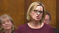 Ex-home secretary's first PMQs as backbencher