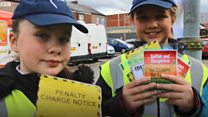 Pupil 'traffic wardens' on duty outside school