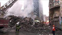 Imagens mostram antes e depois do prédio que desabou em São Paulo