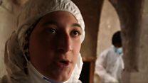 موصل میں ملبے میں دبی لاشوں کی کھوج