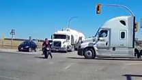 Outrage over truck driver collision fine