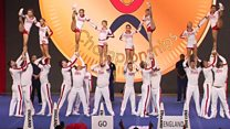England's world champion cheerleaders
