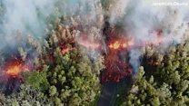 السكان يفرون من الحمم والغازات السامة التي أطلقها بركان هاواي