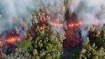 Los espectaculares ríos de lava tras la erupción del volcán Kilauea en Hawái