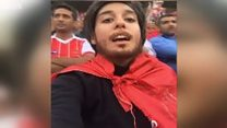 Іранки приклеїли бороди, щоби потрапити на футбол