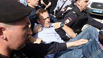 Алексея Навального задержали на акции в Москве