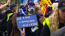 Independence supporters stage Glasgow march
