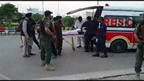 Attacked Pakistan minister taken to hospital