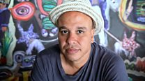 L'artiste marocain Yassine Balbzioui à la Biennale de Dakar