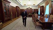 Путинова дуга, усамљена шетња кроз Кремљ