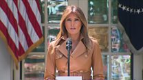 Melania: 'Too often social media is used negatively'