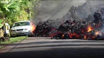 Hawai'deki lav akıntısı önüne çıkan her şeyi yuttu