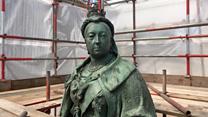 'Green Queen' statue makeover