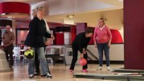 The ten pin bowling team for the blind