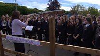 Memorial garden for bomb victim opens