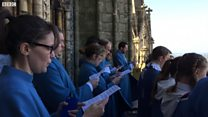 Lincoln Cathedral Choir sings to the city