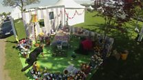 "Watch the UK's first knitted show garden ""grow"" before your very eyes!"