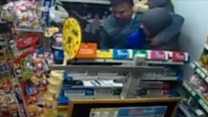 Newsagent takes on knife-wielding robber