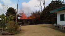 Извергающийся вулкан на заднем дворе