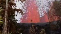 Havaiano registra erupção de vulcão ao lado do quintal de casa