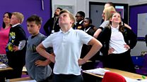 Pupils 'Superhero pose' before tests