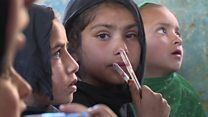 The Afghan girls returning to school