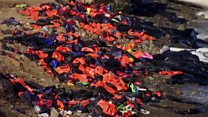 New life for refugees and their lifejackets