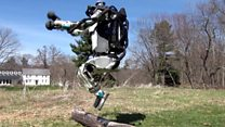 Atlas the robot shows off running skills