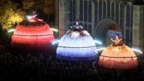 Giant dolls launch arts festival