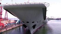China carrier starts sea trials