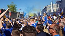 Thousands at Cardiff City promotion party