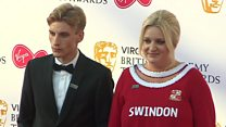Baftas: Small screen stars on red carpet