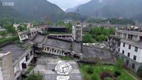 เมืองร้างเพราะแผ่นดินไหวใหญ่ในจีนกลายเป็นที่ท่องเที่ยว