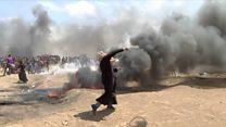 Al menos 41 muertos en Gaza durante las protestas por la nueva embajada de EE.UU. en Jerusalén.