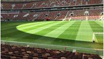 Irish company installs World Cup pitches