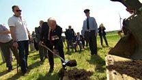 Last Dambuster at RAF sculpture ceremony