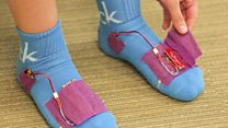 Smart socks send data to your physio