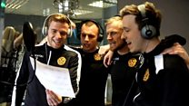 Motherwell players record cup final song