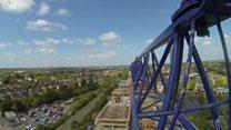 Crane operator's view of Cambridge