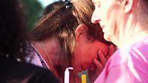 Tears at vigil for Texas victims