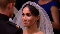 Prince Harry lifts Meghan's veil
