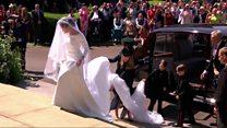 Así fue la esperada llegada de Meghan Markle a su boda con el príncipe Harry