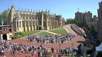 Timelapse footage shows Windsor crowds