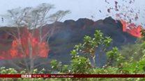 ဟာဝိုင်အီ မီးတောင်ကြီးက အဆိပ်ငွေ့တွေ မှုတ်ထုတ်