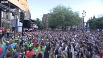 Thousands attended the event in Manchester's Albert Square